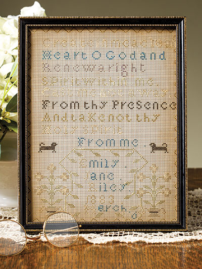 Cross stitch sampler pattern