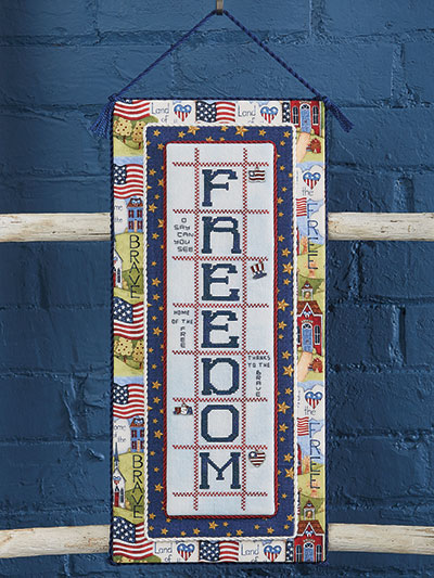 Cross stitch Freedom design pattern