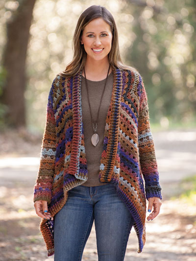 Crochet the Euphoria Cardi Crochet Sweater pattern