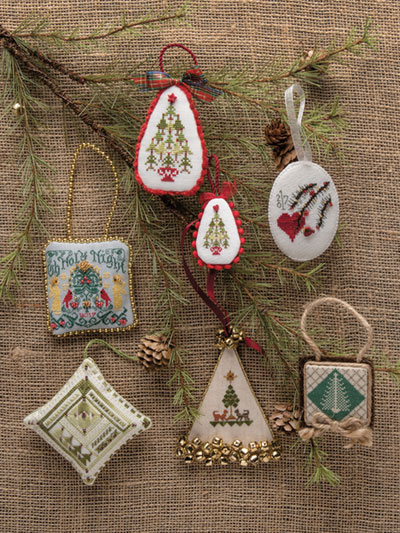 just crossstitch ornaments 2017 loading technique needlework - Cross Stitch Christmas Decorations