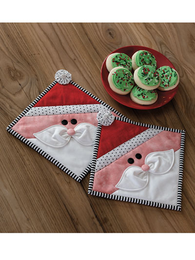 Santa Pot Holder Kitchen Set Quilt Pattern