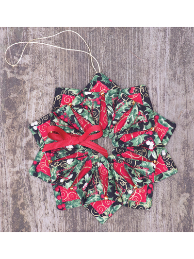Fold N Stitch Wreath Ornament Pattern