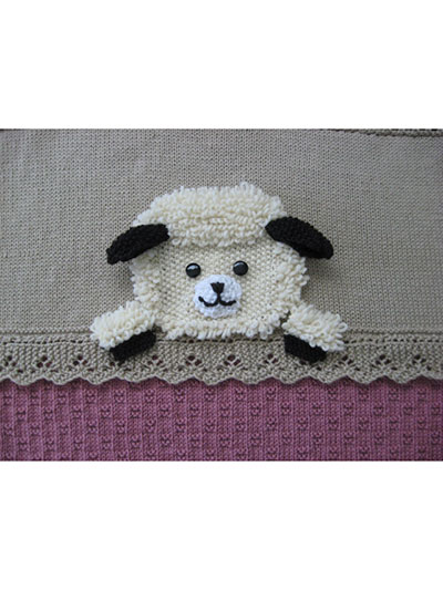 Lamb Crib Blanket knitting pattern