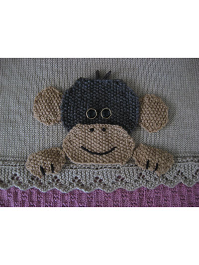 Monkey Crib Blanket Knitting Pattern
