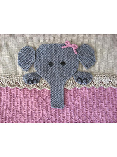 Elephant Crib blanket knitting pattern