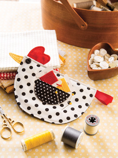 Chicken Needle holder sewing pattern
