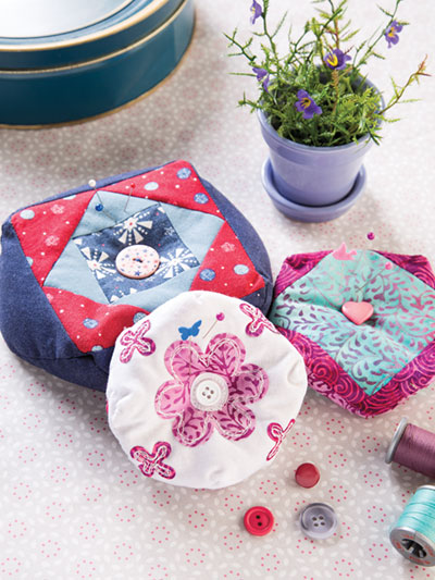 Learn to sew quick and easy Pincushions with these patterns