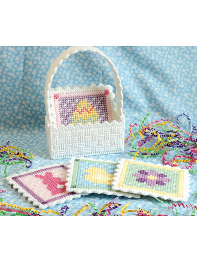 Spring Coasters in Plastic Canvas Pattern