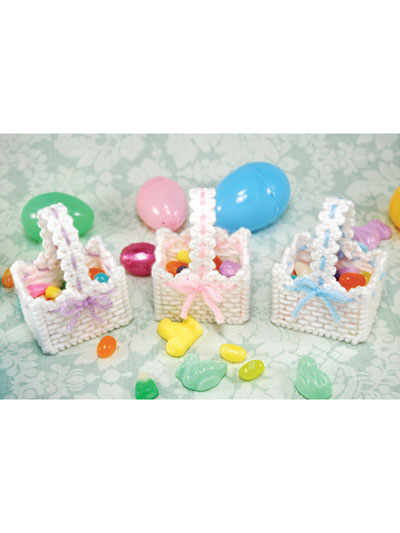 Easter Basket to make in plastic canvas pattern