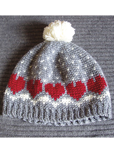Crochet pattern for Snow Hat with Heart