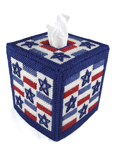 Stars and Stripes Boutique Tissue Cover Plastic Canvas PATTERN//INSTRUCTIONS