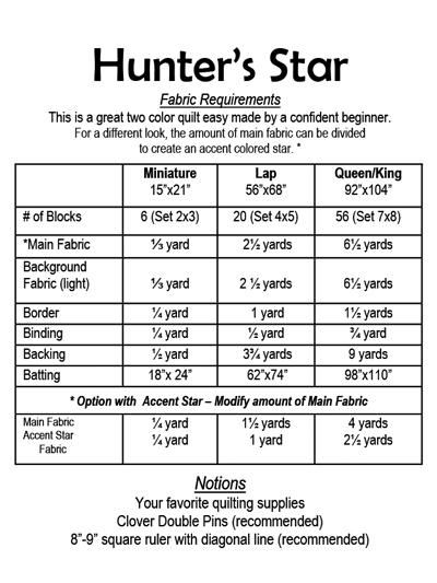Quilt Patterns Hunter S Star Quilt Pattern