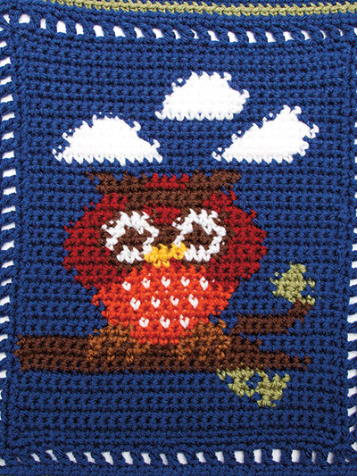 Crochet animal baby blanket pattern owl crochet pattern