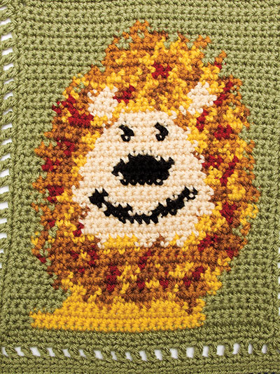 Crochet Lion Baby Blanket pattern