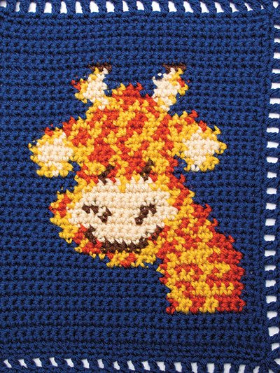 Crochet giraffe baby blanket pattern