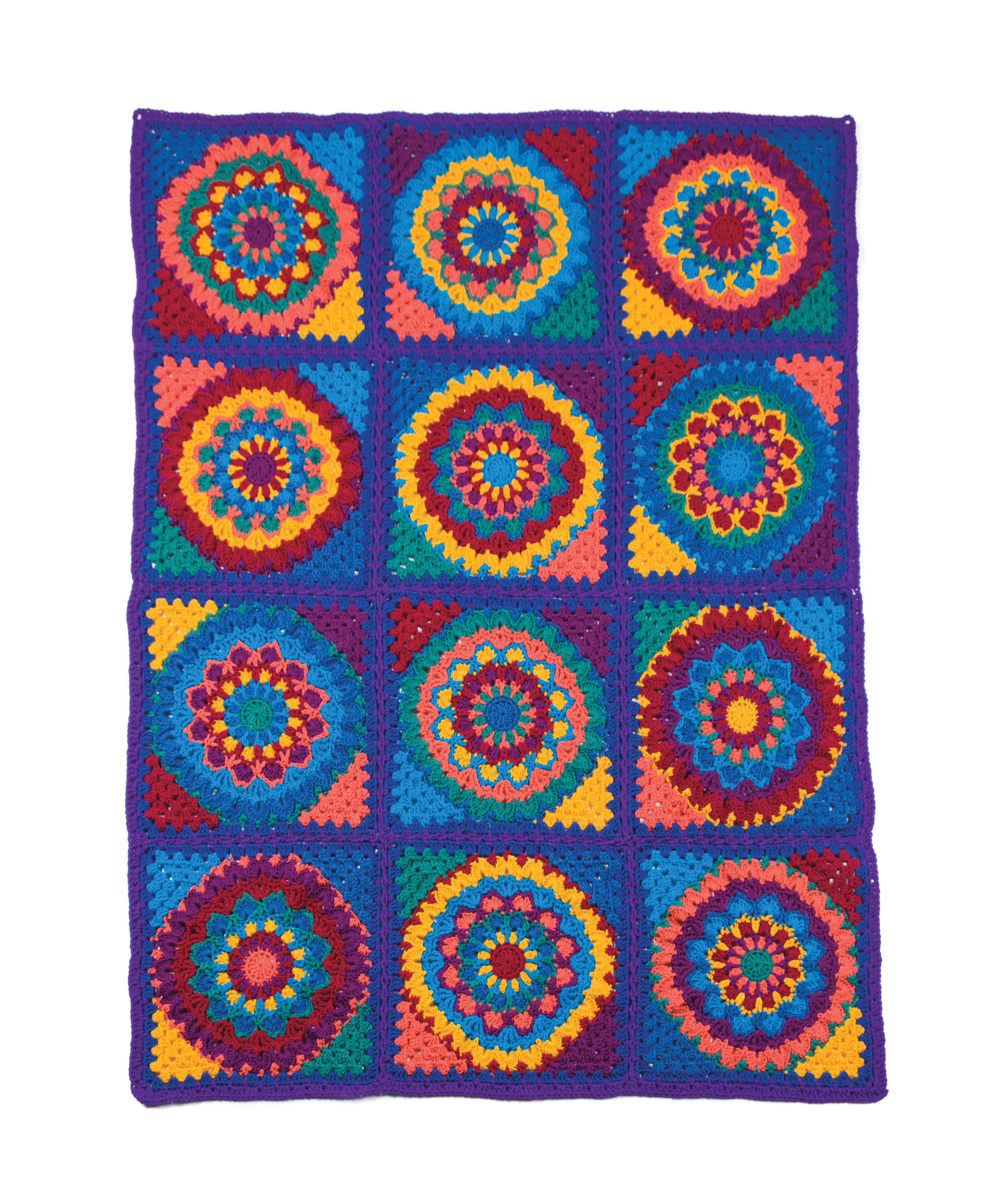 Crochet Patterns Mandala Granny Afghan Crochet Pattern