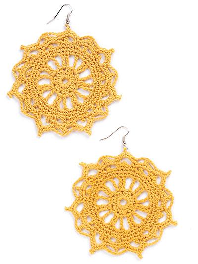 New Crochet Patterns Dreamers Geometry Mandala Earrings Crochet