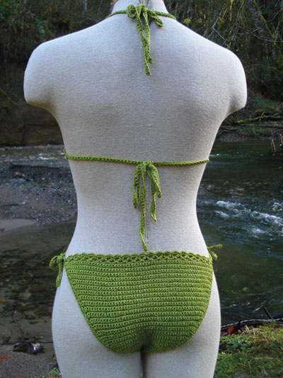 Back of Crochet Bikini pattern