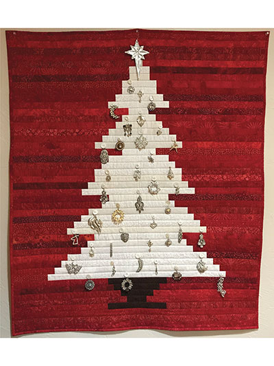Christmas Winter Quilt Patterns Oh Stripmas Tree Wall Hanging