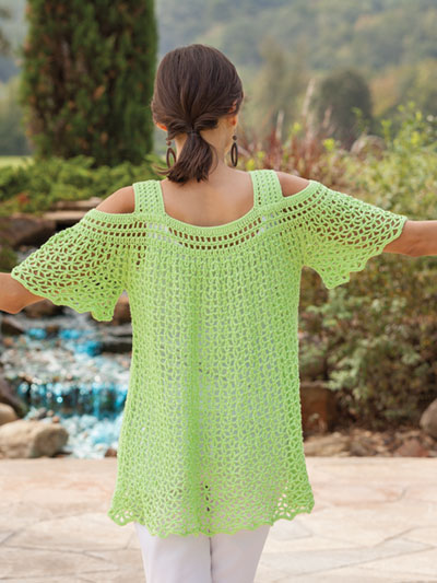 Crochet Peekaboo top pattern