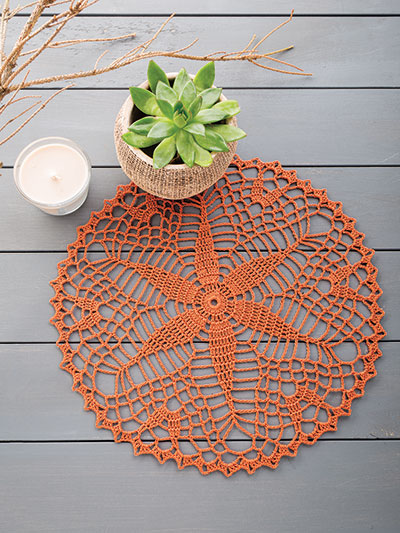 Fast and easy doily crochet pattern