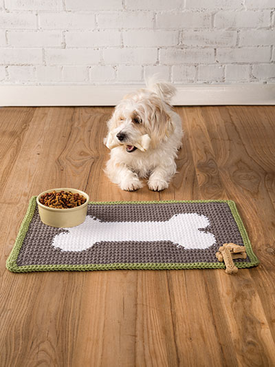 Crochet dog mat rug pattern fast and easy crochet patterns