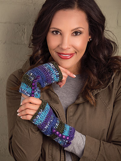 Fast and easy fingerless gloves to crochet patterns
