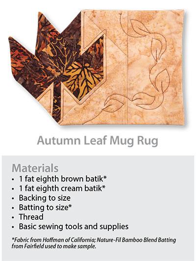 Pumpkin Mug Rug Quilting Pattern