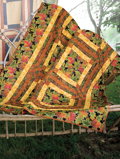 Fall and Autumn easy to make quilt patterns in the 2019 quilting calendar