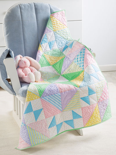 Easy baby quilt patterns to make found in the 2019 quilt calendar