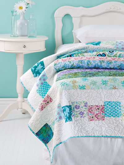Bed quilt pattern that are easy to make found in the 2019 quilt calendar