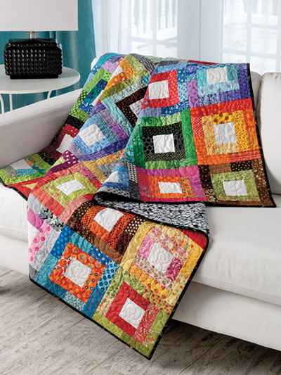 Fun and colorful quilts to make in the 2019 quilt calendar