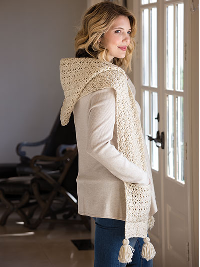 Crochet Road Trip Hooded Scarf Crochet Pattern Yc04314