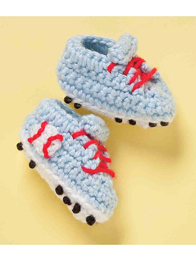 Baseball shoes crochet pattern for baby
