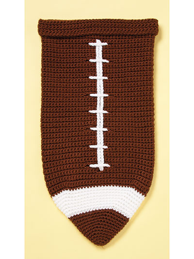 Crochet a football cocoon pattern