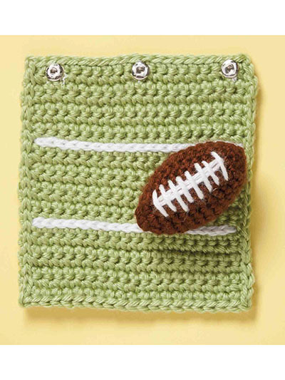 Football blanket for baby crochet pattern