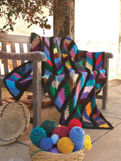 Crochet Scrap Yarn Afghan Patterns Colorful Patterns