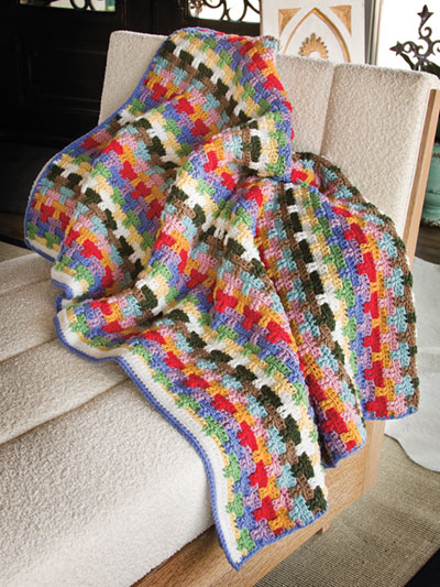 Colorful Scrap Yarn Afghans to Crochet