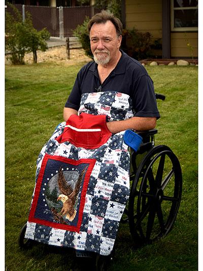 Wheelchair quilt pattern to make