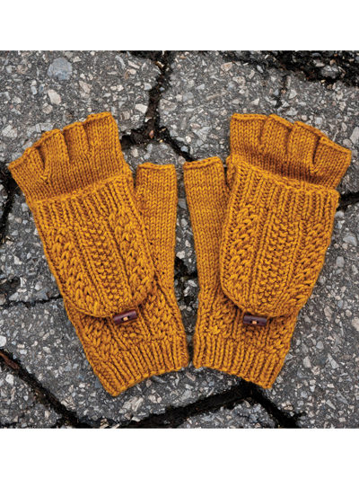 efec6242b18c Cabled Dad Mittens Knit Pattern. loading. Knit basic yet classy  cold-weather gear!