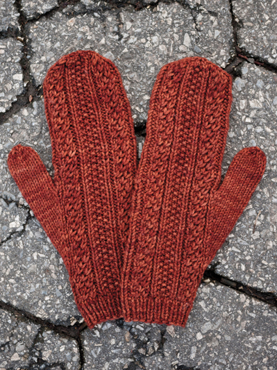 Knitting Patterns Supplies Cabled Dad Mittens Knit Pattern