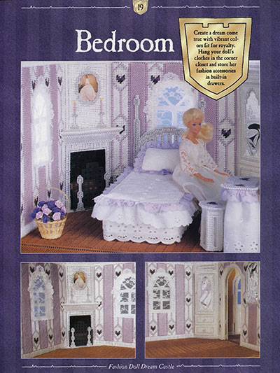 Bedroom in Plastic Canvas