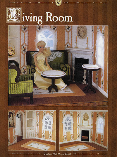 Living Room Plastic Canvas