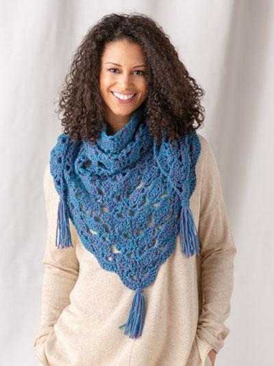 Crochet scarf shawl pattern
