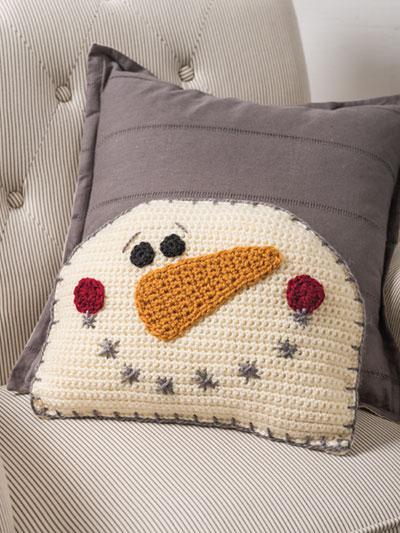 Crochet snowman pillow crochet pattern