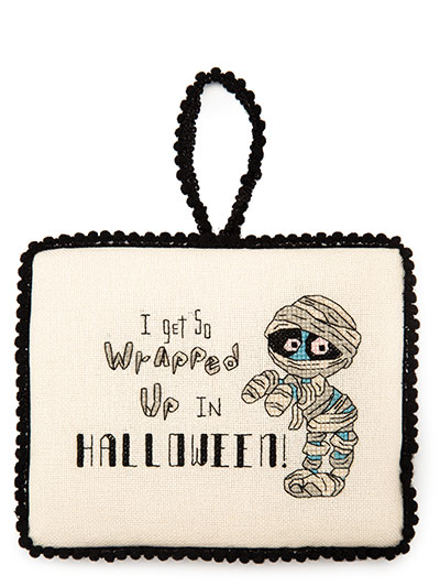 Halloween Ornament Cross Stitch Pattern
