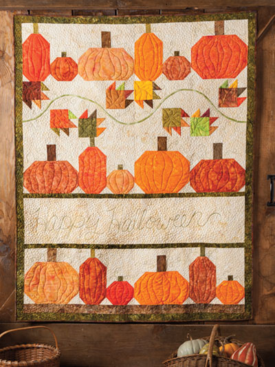 Pumpkin Quilt wall hanging pattern