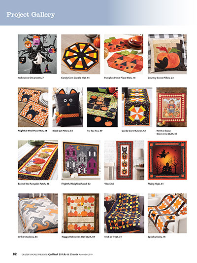 Halloween Quilt Projects and Patterns