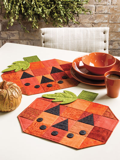 Quilted Pumpkin Placemats