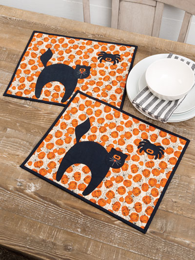 Black Cat Placemat